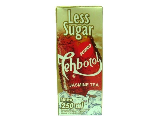 "Jasmintee ""Tehbotol - Less Sugar"", Sosro, 250ml"