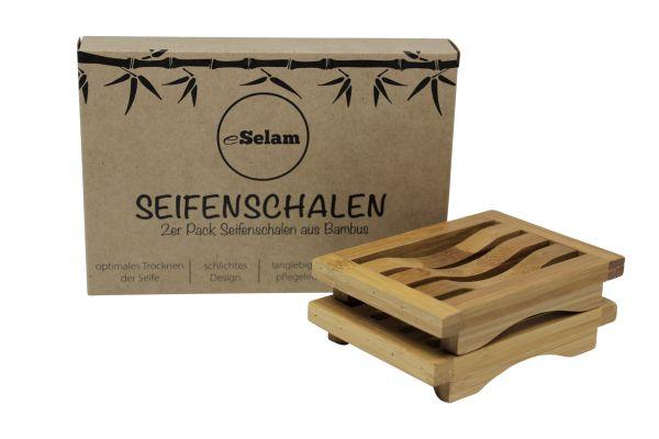 Seifenschalen aus Bambus, eSelam, 2 Stück