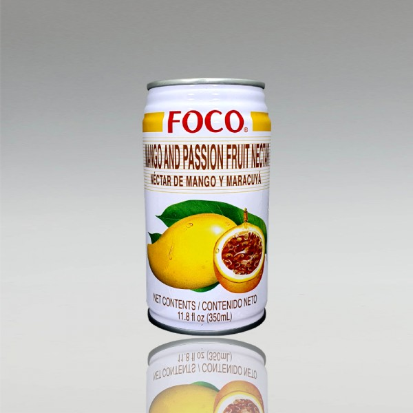 Mango und Passionsfruchtgetränk, Foco, 350ml