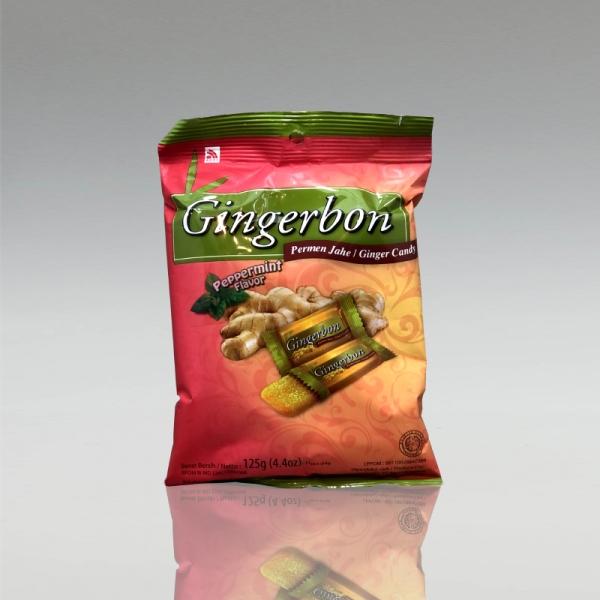 Gingerbon Peppermint - Ingwerbonbon mit Pfefferminze, 125g