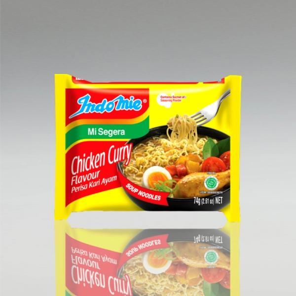 1 Karton (40 Stück) Indomie Chicken Curry Flavour