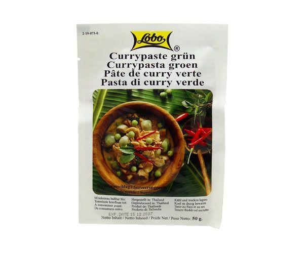 Currypaste, grün, Lobo, 50g