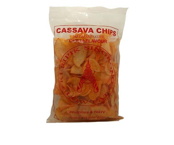 Cassavechips, scharf, 250g
