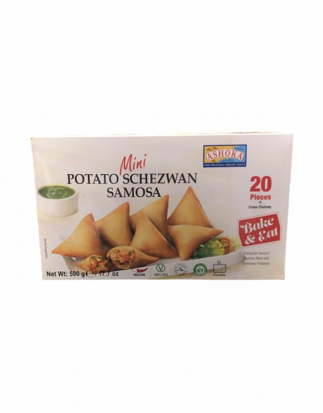Mini Samosa Kartoffel Teigtaschen, 20 Stück + Grünes Chtuney, 500g (Versand nur in Deutschland)