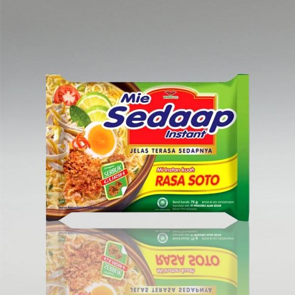 1 Karton (40 Stück) Mie Sedaap mit Sotogeschmack