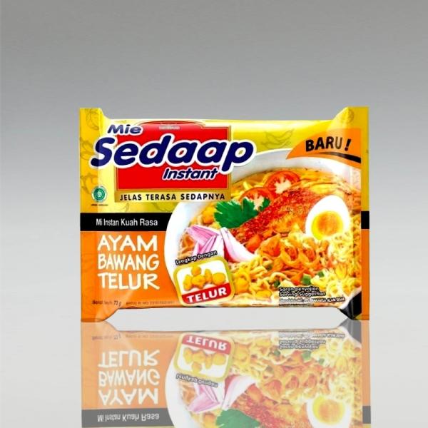 1 Karton (40 Stück) Mie Sedaap mit Hähnchen-Zwiebel-Ei-Geschmack