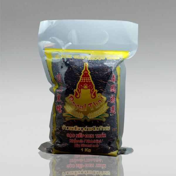 Schwarzer Klebreis, Royal Thai, 1kg