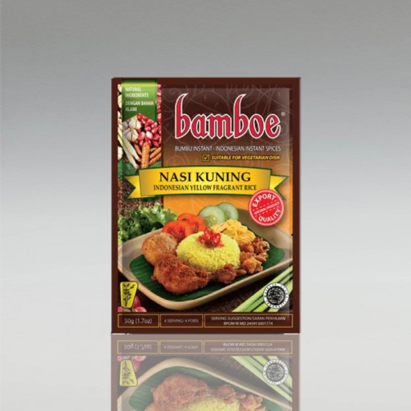 12 x Nasi Kuning, Bamboe, 55g