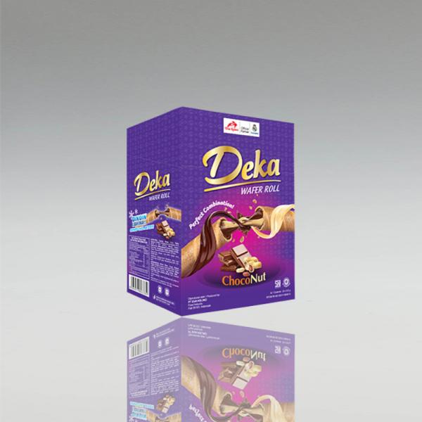 Deka Wafer Roll Choco, Dua Kelinci, 24 x 9g