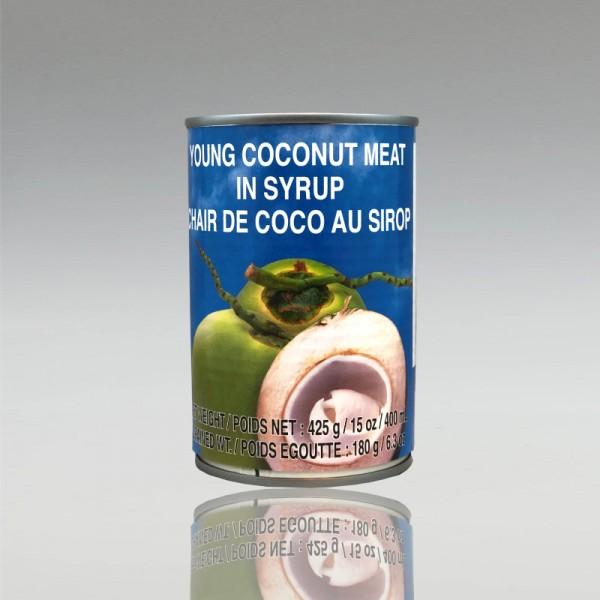 Junges Kokosfleisch in Syrup, Cock Brand, 425g