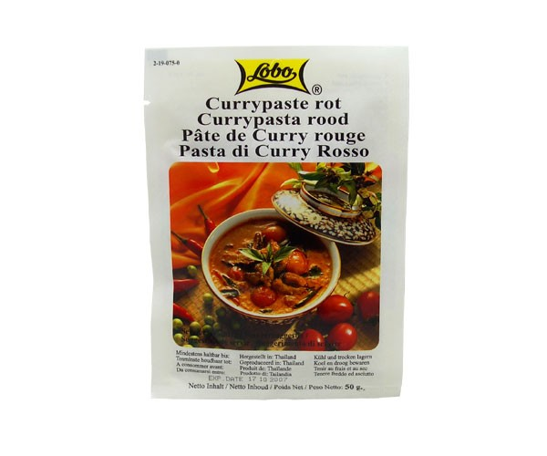 Currypaste, rot, Lobo, 50g