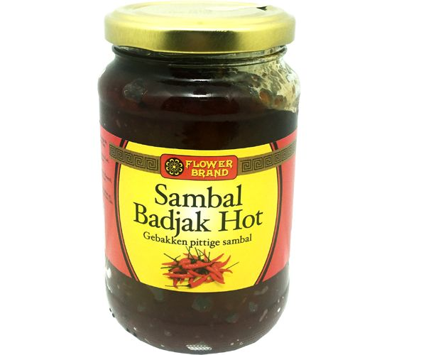 Sambal Badjak, Hot, Flower Brand, 375g