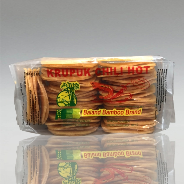 Shrimpkrupuk Scharf, Baland Bamboo, 500g