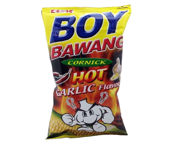 Maissnack Hot Garlic, BoyBawang, 100g